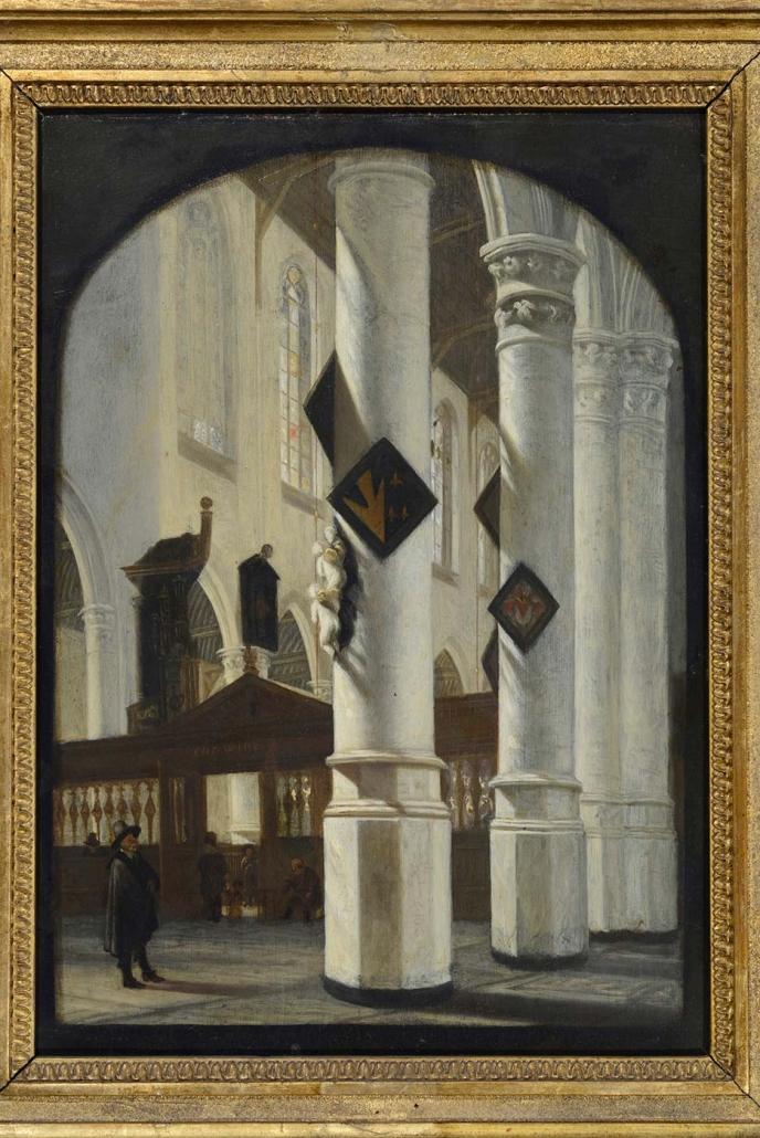 """Emanuel de Witte, Alkmaar 1617-1692 """"Innenansicht der Oude Kerk in Delft"""" Museum Heylshof/Worms"""