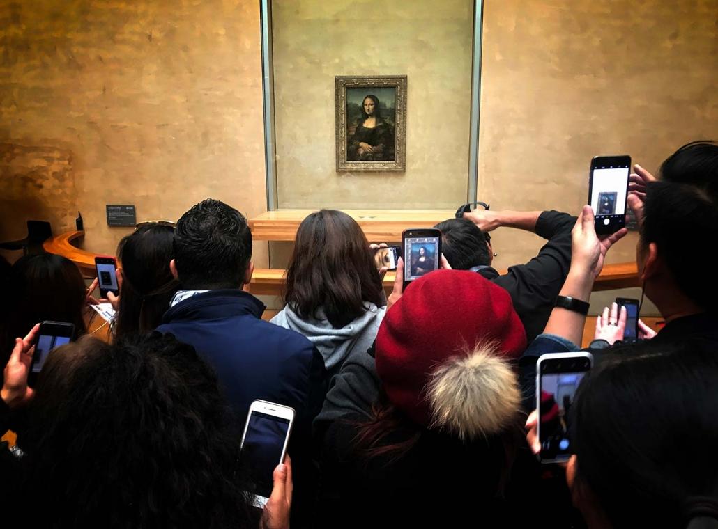 "Leonardo da Vinci, Anchiano bei Vinci 1452 - Amboise 1519 ""Mona Lisa"" Louvre 2018 / Paris"