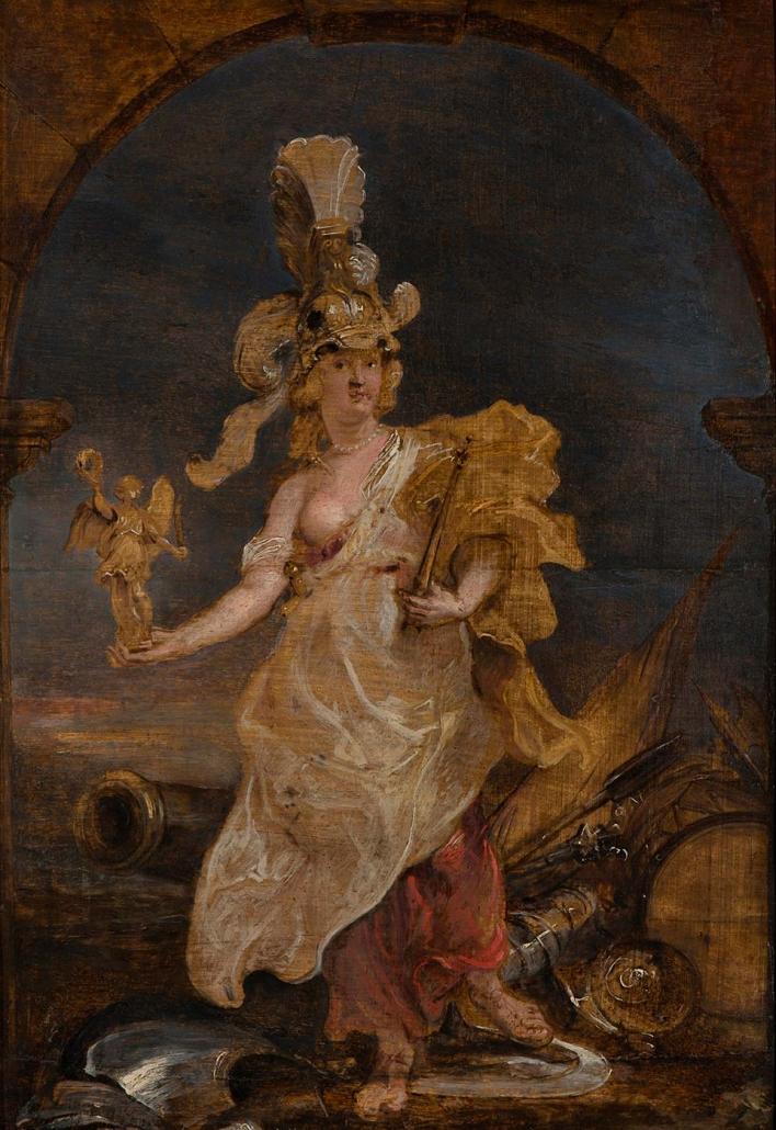 """Peter Paul Rubens, Siegen 1577 - Antwerpen 1640 """"Maria von Medici als Bellona"""" Museum Heylshof / Worms"""