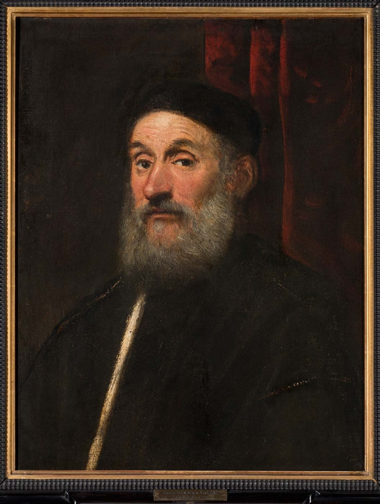 "Jacobo Robusti, genannt Tintoretto - Venedig 1580 - 1594 ""Männerbildnis"" Museum Heylshof / Worms"