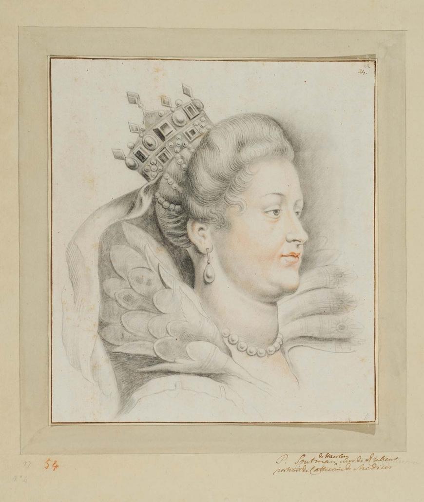 """Pieter Claesz Soutman Haarlem um 1580 - 1657 """"Portrait der Maria Medici"""" Museum Heylshof / Worms"""