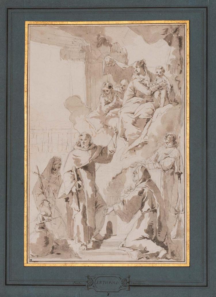 """Giovanni Battista Tiepolo, Venedig 1693 - Madrid 1770 """"Hl. Jungfrau erscheint Heiligen"""" Museum Heylshof / Worms"""